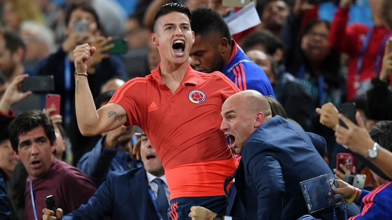 James Rodriguez could play a key role for Colombia