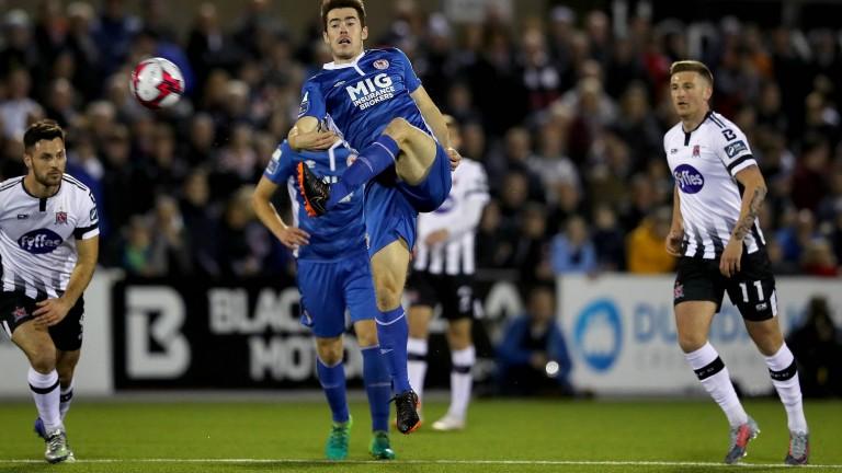 St. Patrick's Athletic midfielder Lee Desmond against Dundalk