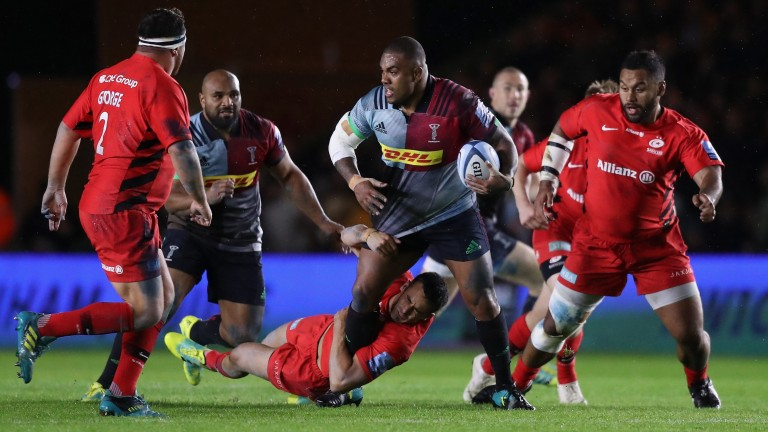 Kyle Sinckler is likely to be at the heart of Quins' forwards efforts
