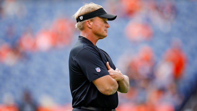 It's been a tough return to coaching so far for Jon Gruden