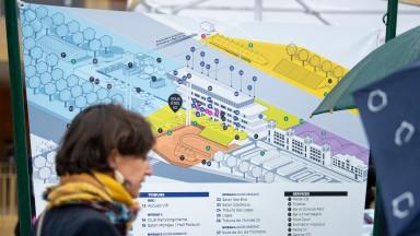 A map of the new facilities at ParisLongchampLongchamp 7.10.18 Pic: Edward Whitaker