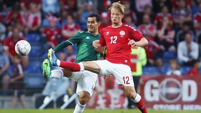 Kasper Dolberg could step up for Denmark