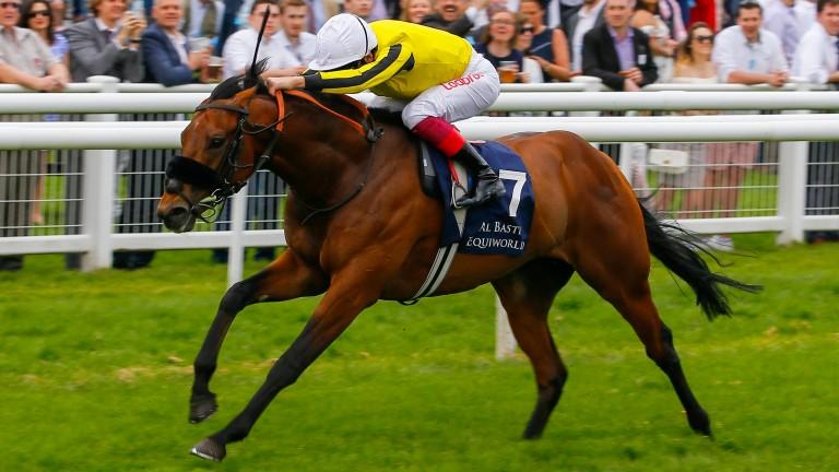James Garfield wins the Greenham Stakes at Newbury