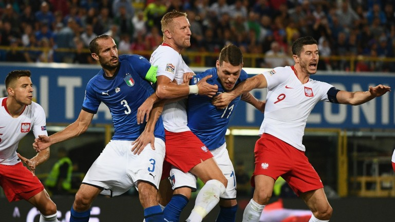 Italy drew 1-1 with Poland in Bologna last month