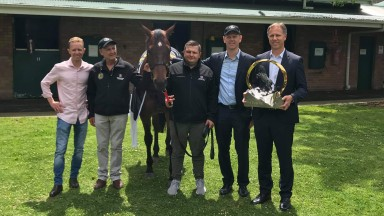 The Redzel team celebrate with the Everest trophy