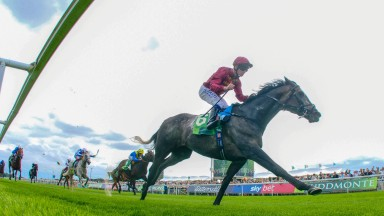 Oisin Murphy steers Roaring Lion to a decisive success in the Juddmonte International at York