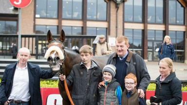 Parade ring scenes at Punchestown as Hidden Cyclone is retired