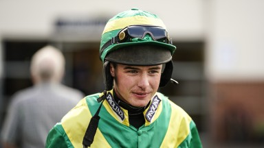 Charlie Deutsch goes out fr his comeback ride at Huntingdon (Photo by Alan Crowhurst/Getty Images)
