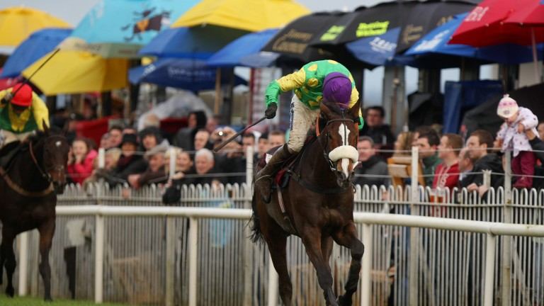 Kauto Star winning his second JNwine.com Champion Chase at Down Royal in 2010