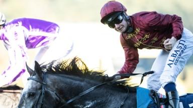 Oisin Murphy celebrates Roaring Lion's victory