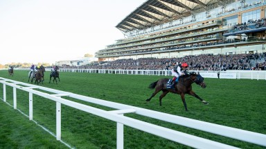 Cracksman and Frankie Dettori pull clear in the Champion Stakes