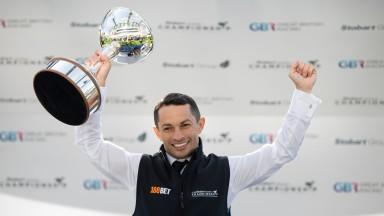 Champion jockey Silvestre de Sousa Ascot 20.10.18 Pic: Edward Whitaker
