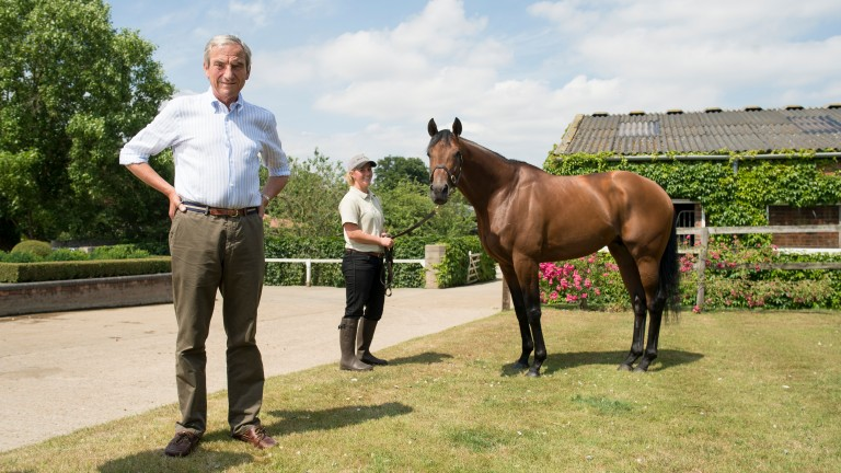 Luca Cumani at Bedford House with former stable star Postponed