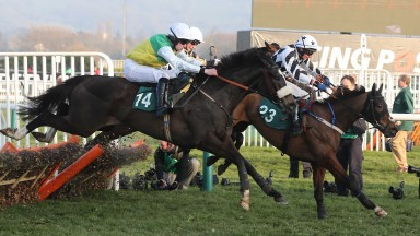 Hawk High: on his way to victory in the Fred Winter in 2014