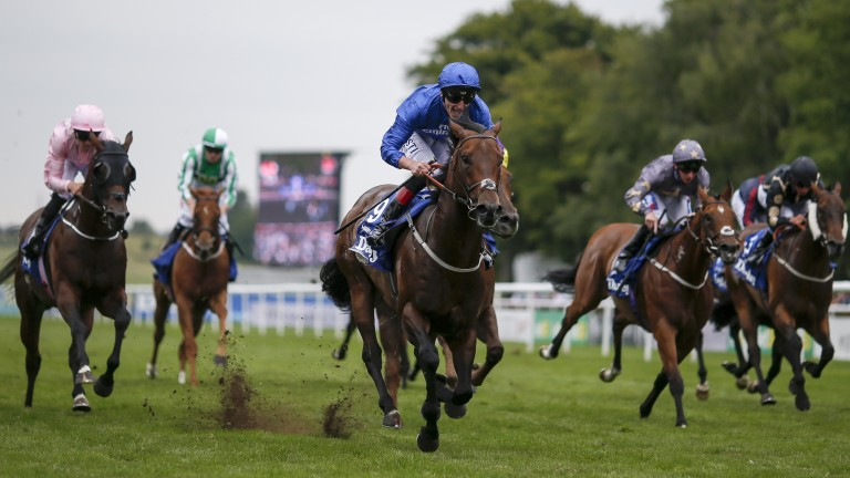 Harry Angel breaks his Group 1 duck in the Darley July Cup