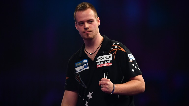 German darter Max Hopp faces a tricky set of opponents on Tuesday