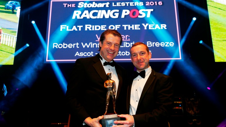 Robert Winston (right) won Flat Ride of the Year last year when riding Librisa Breeze in the Champions Sprint Stakes