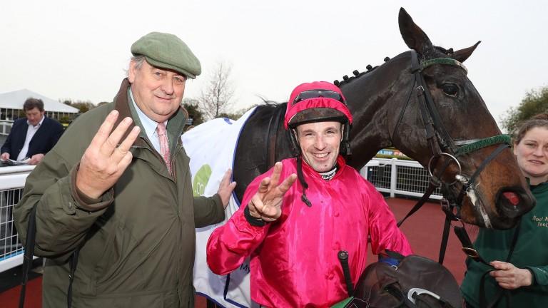 Noel Meade and Sean Flanagan after Snow Falcon scored at Down Royal on Saturday