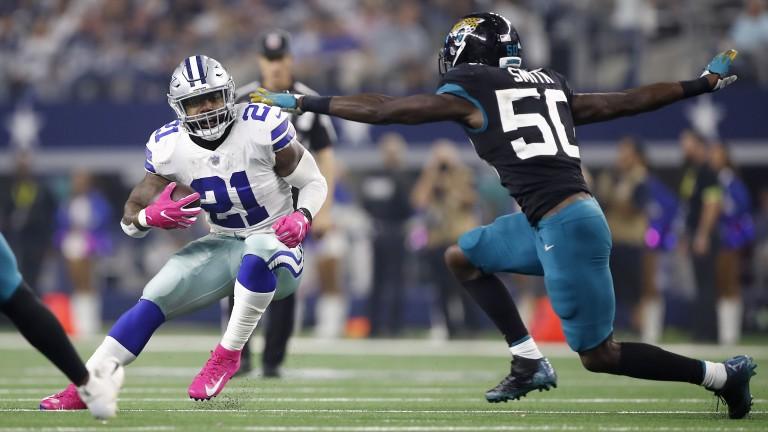 Dallas running back Ezekiel Elliott (left)