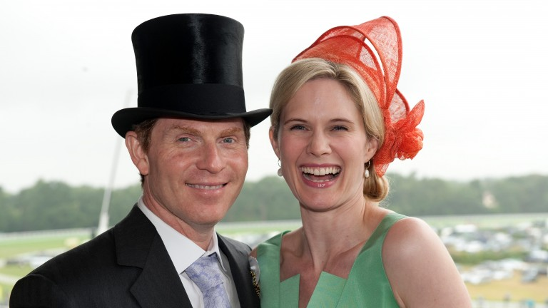 TV chef Bobby Flay and Stephanie March at Royal Ascot in 2011