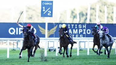 Cracksman storms clear of Crystal Ocean to land his second Champion Stakes
