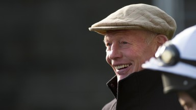 A delighted Gary Moore after Krugermac had won the 2m 3f NH maiden hurdleAscot 20.11.15 Pic: Edward Whitaker