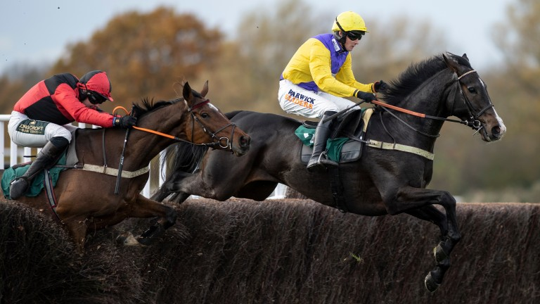 Kalashnikov and Jack Quinlan soar over the second-last