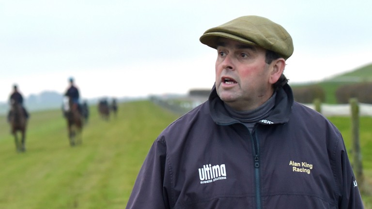 Alan King on the gallops at Barbury Castle