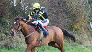 Mister Tickle and Harley Dunne win the four-year-old maiden at Lisronagh