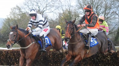 Wherewouldugetit and Derek O'Connor (left), with Word Has It alongside,on their way to victory at Dromahane