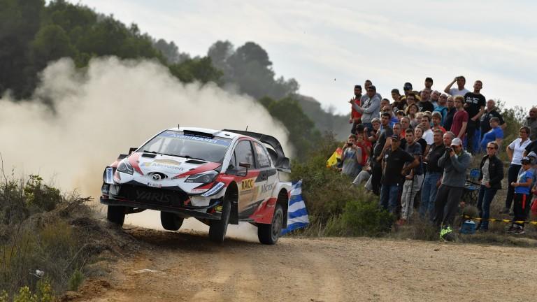 Jari-Matti Latvala gets sideways in Spain