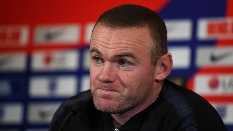 Wayne Rooney attends an England press conference
