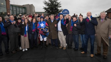 The Niccolai Schuster Racing Club are in full voice after Ellie Mac won the opening novice chase at Fairyhouse