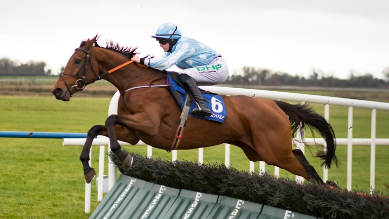 Honeysuckle and Rachael Blackmore in winning action at Fairyhouse