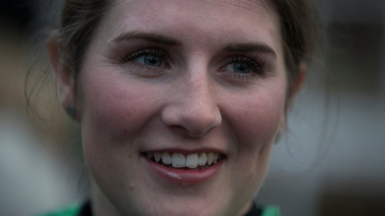 Gina Andrews: was leading the track's third race, a handicap hurdle, when her horse fell