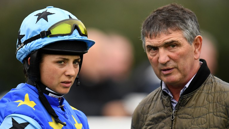 Frost with her Grand National winning jockey-turned-trainer Jimmy