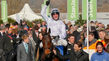 Richie McLernon and Holywell return to the winners' enclosure after victory at the 2014 Cheltenham Festival