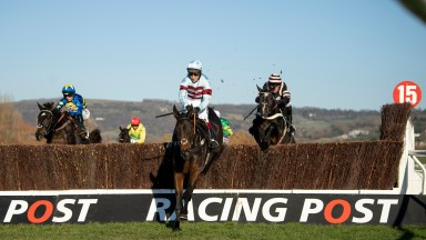 Lalor and Richard Johnson win the Racing Post Arkle trophy trial novices chaseCheltenham 18.11.18 Pic: Edward Whitaker
