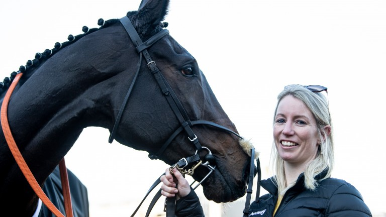 Lalor and Kayley Woollacoott after winning the Racing Post Arkle Trophy Trial