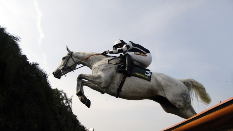 Monet's Garden (Tony Dobbin) on the way to Grade 1 success in the 2007 Melling Chase
