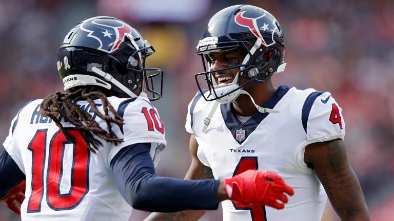 DeAndre Hopkins has scored a touchdown in Houston's last five games