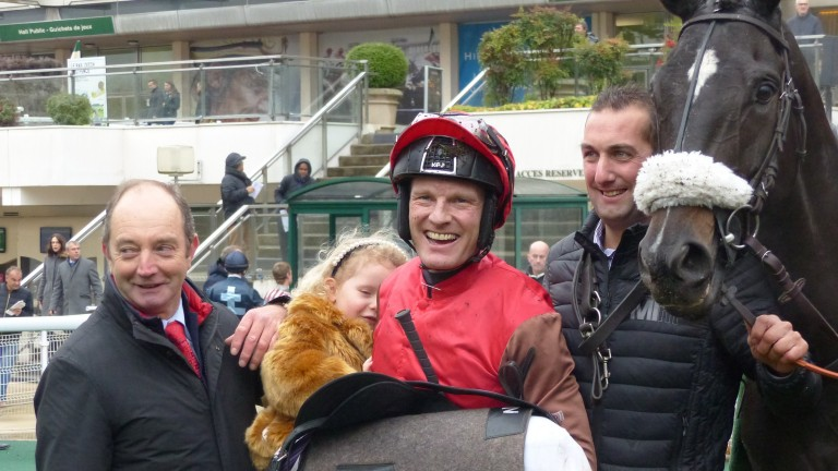David Maxwell after winning the Grade 3 Prix Morgex at Auteuil aboard Cat Tiger