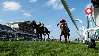 Tiger Roll (right) pips Pleasant Company to win the Grand National