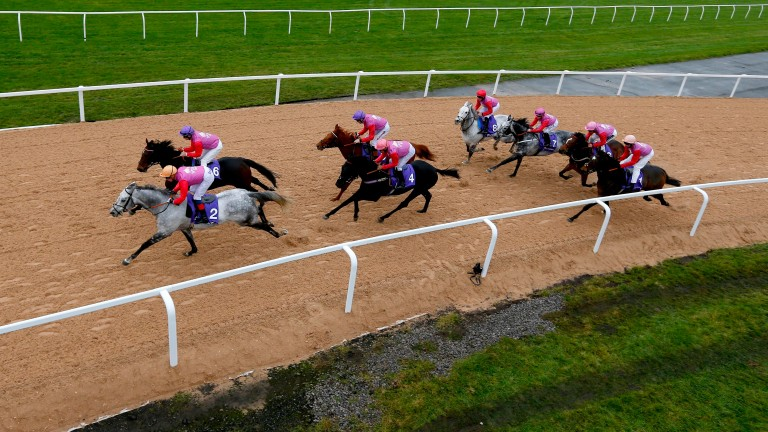 The artificial surface is put to the test at Aintree