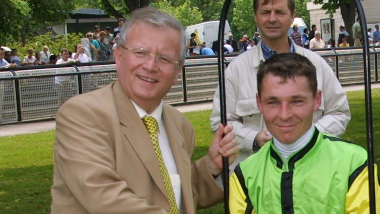 Mayor of Maisons-Laffitte Jacques Myard (left) will be a key figure in the fight to save the racecourse