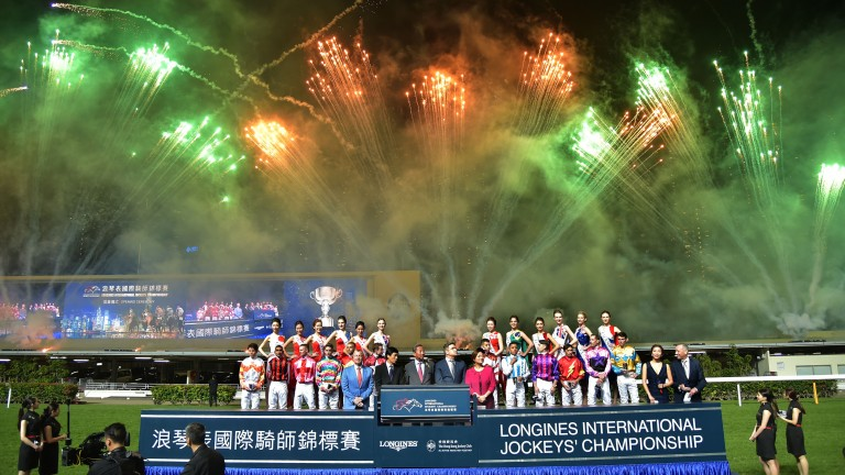 The 2018 Longines International Jockeys Championship opening ceremony