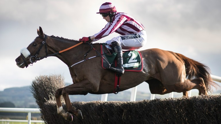 Ben Dundee gets off the mark over fences at Punchestown three weeks ago