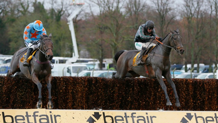 Tingle Creek first and second Altior and Un De Sceaux (left) could meet again at Ascot