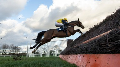 Charbel flies the last to win on his way to victory in the Peterborough Chase