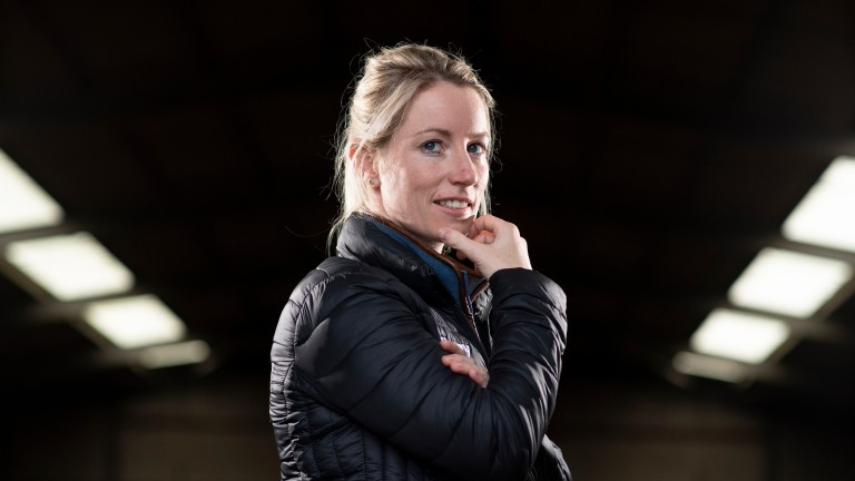 Trainer Kayley Woolacott at the British Racing School in Newmarket 6.12.18 Pic: Edward Whitaker